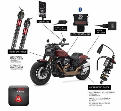 Bitubo Electronic Digital DigiShox Suspension Shocks Kit Harley Softail FXBB 18+