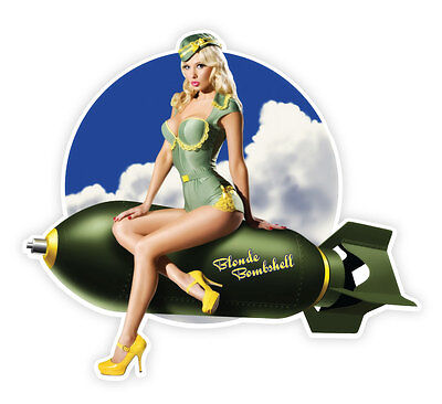 Pin Up Girl Blond (Pin up pinup pin-up sexy retro girl Blonde Bombshell sticker decal 5