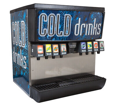 Soda Fountain 8 Flavor Ice Beverage Complete System