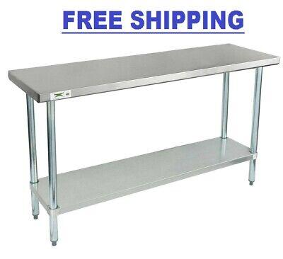 Stainless Steel Work Prep Shelf Table Commercial Restaurant 18 Gauge 18 X 60