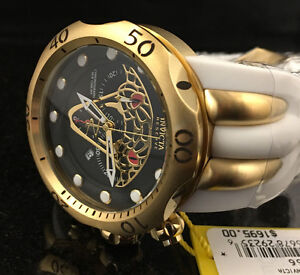 @NEW Invicta Reserve 50mm Venom Viper Gold Tone Chronograph Quartz Watch 24066