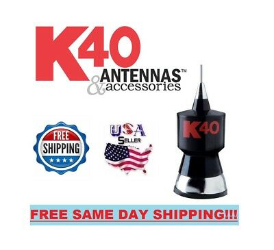 "K40A 57.25"" Base Load CB Antenna Kit with Stainless Steel Whip and Black, used for sale  South Bend"