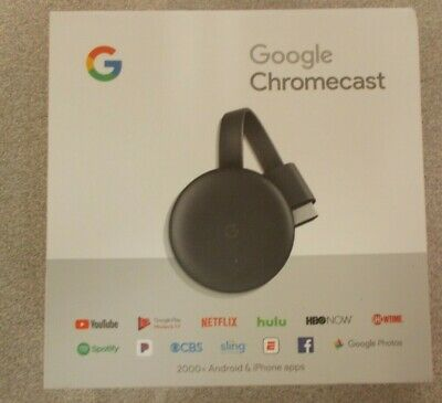 Google Chromecast 3rd Generation Streaming Media Player Charcoal OEM