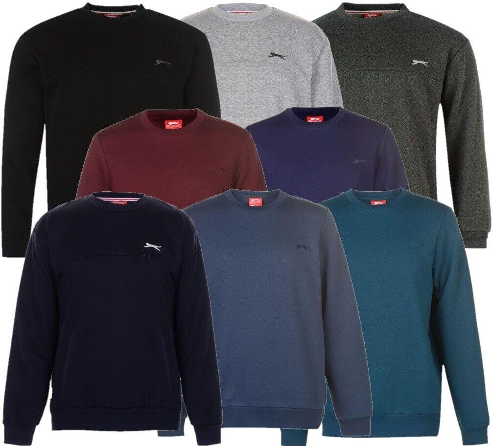 ✅ SLAZENGER Herren Rundhals Pullover Sweatshirt Fleece Arbeits Sweater Pulli NEU