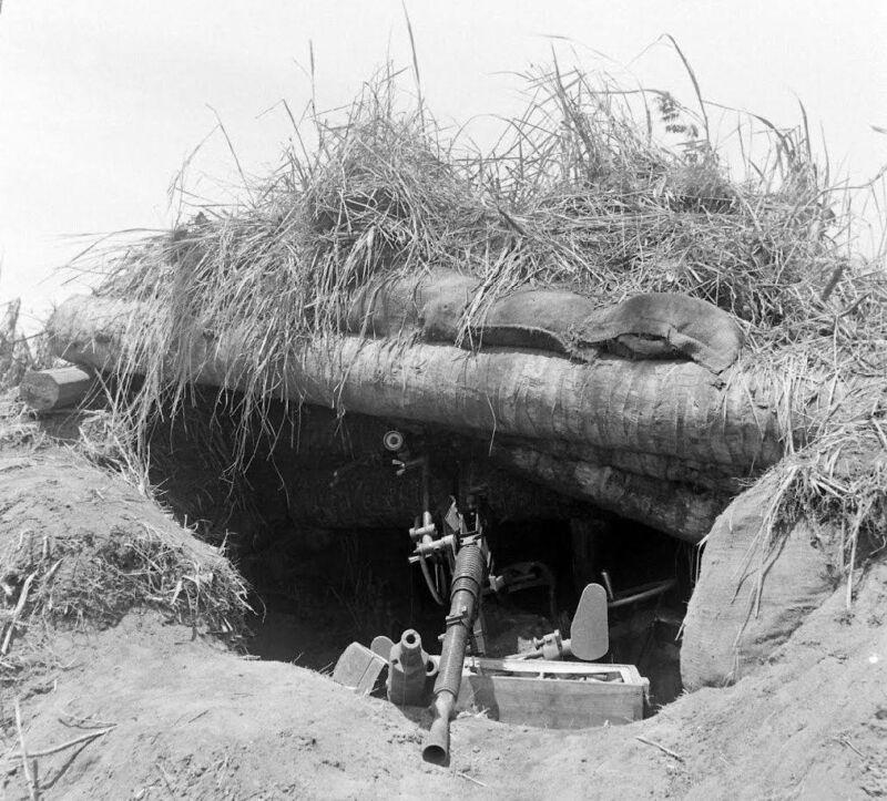 WW2 Photo WWII Captured Japanese Machine Gun  New Guinea  World War Two /1449