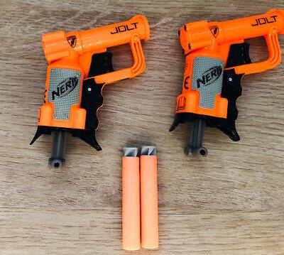 NERF N-Strike Elite Jolt Soft Dart Gun Blaster - Orange With Bullets