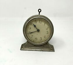 19Th C Vintage Old Brass Crafted Collectible Morning Alarm Table Clock Watch