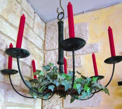 kronleuchter kerzen lampe ikea metall landhaus schwarz eisen in nordrhein westfalen. Black Bedroom Furniture Sets. Home Design Ideas