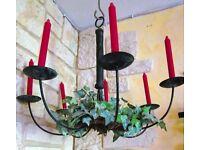 kronleuchter kerzen lampe ikea metall landhaus schwarz eisen nordrhein westfalen l denscheid. Black Bedroom Furniture Sets. Home Design Ideas
