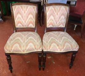2 Victorian Parlour Chairs