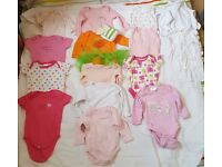 Baby girls clothes in size 0-6 months.