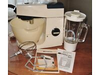 Vintage Retro Kenwood Chef with Liquidiser Attachment, K Beater, Balloon Whisk & Instructions