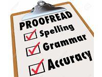 Academic proof reading
