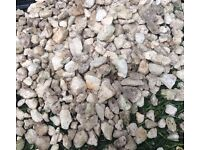 Garden gravel. Polar white / light grey. 30 bags. Collection only. Offers welcome.