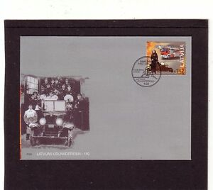 Latvia-2015-Fire-Fighting-Fire-Engine-First-Day-Cover-FDC