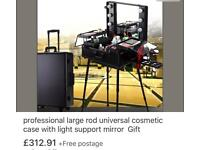 Pro makeup artist case brand new wheeled trolley with lights