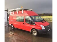13 Ford Transit 300LWB Hi-Top Crew Van