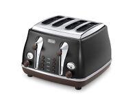 De Longhi 4 Slice Toaster - Black