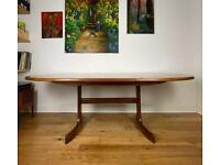 Mid-Century 1960s G Plan Fresco Teak Oval Extending Dining Table FREE LOCAL DELIVERY