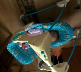 Fisher Price compact baby swing.