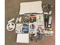 Wii Console bundle including games and Wii Fit