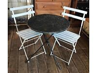 Fold Up Table & Two Chairs