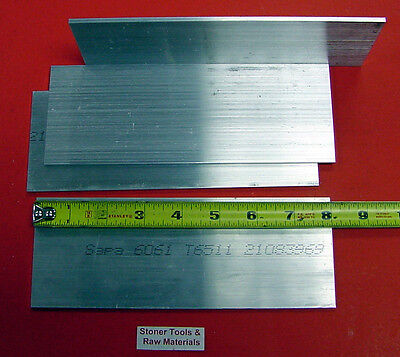 4 Pieces 18 X 4 Aluminum 6061 Flat Bar 8 Long .125 Plate New Mill Stock