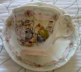 Royal Doulten Cup and Saucer, THE WEDDING.