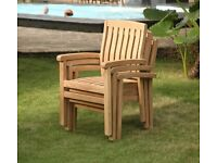 Tuscany Grade A Teak Garden Stacking Chair