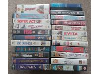 Classic Movies VHS Tapes Cassette (24 Movies) - Job Lot