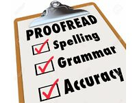 Proofreading Service - Dissertations, Essays, etc (£15 per 2000 Words)