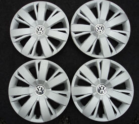 "VW JETTA PASSAT 16"" Wheel Trim Hub Cap Cover FULL SET OF 4 5C0601147A Golf Touran"