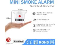 HEIMAN Mini Smoke Alarm, Small Fire Alarm with 10-Year Battery (NEW)