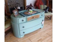 Beautifully Upcycled Art Deco Chest of Drawers or Dressing Table