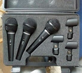 Behringer XM1800s Microphones with case. Little Used And In Good Condition