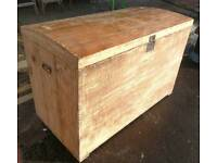 Vintage pine dome top trunk or blanket box