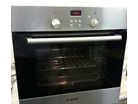 BOSCH,STAINLESS STEEL,ELECTRIC FAN OVEN/GRILL. IMMACULATE THROUGHOUT.