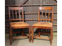 A Pair of Regency Carved Mahogany Dining or Hall Chairs UK Delivery Available