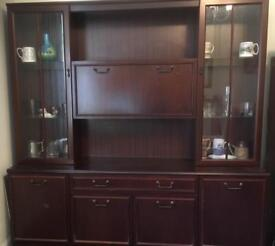 Display cabinet with sideboard (comes in two pieces)