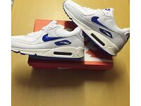 Brand New With Tags Men's Nike Airmax Size 8 White/Blue £25