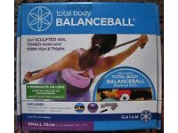 """New Unopened Total Body Balance Ball Exercise Workout for heights 5' to 5' 5""""plus DVD etc."""