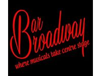 Bar Broadway is casting. Experienced bartenders with interest in theatre.