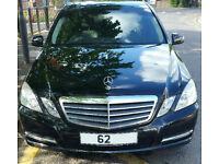 Mercedes E220 SE CDI BlueEFFICIENCY Saloon Black Auto Diesel 41000 miles FMBSH 2012 62reg Uber ready