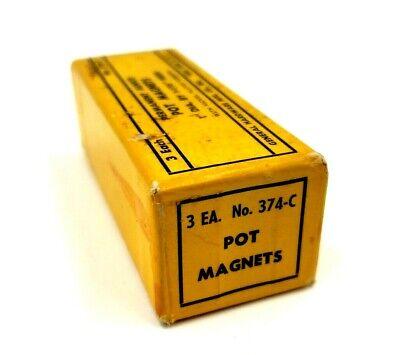 Permanent Alnico Pot Magnets 2 374-c General Hardware 1 Dia X 1-116 H Usa