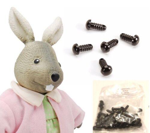 9mm Black Stuffed Animal Safety Eyes+Washers-Dolls Amigurumi TeddyBear 75 Pairs