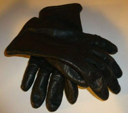 Fownes Brothers Ladies Leather Dress Gloves Black Lined Size 8