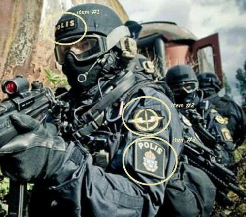 SVERIGE SWEDISH POLISEN POLIS SWAT PIKETEN PIKETENHETEN 瑞典警察 vêlkrö 3-PATCH SET