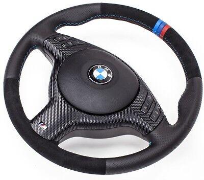 Lederlenkrad BMW M Lenkrad E46 M3, M5  mit ALCANTARA  Blende Multif.mit Airbag gebraucht kaufen  Görlitz