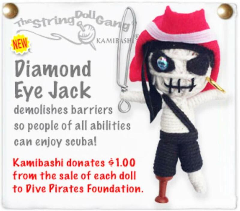 Kamibashi Diamond Eye Jack Pirate The Original String Doll Gang Keychain Clip