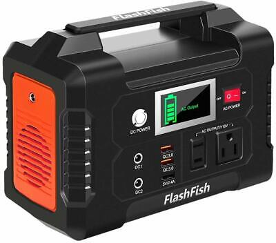200W Portable Power Station, FlashFish 40800mAh Solar Generator with 110V AC Out